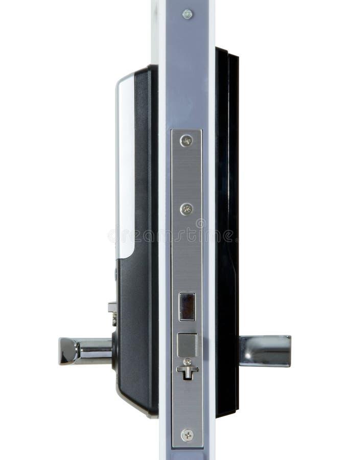 Aluminiowa drzwiowa rękojeść zdjęcia stock