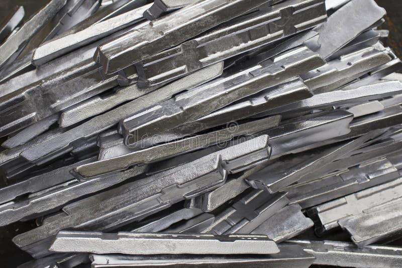 Aluminiowa ingot produkcja w fabryce fotografia stock