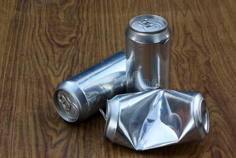 Aluminiowi napoje mogą obrazy stock