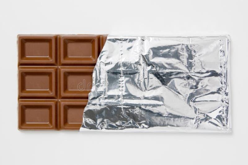 aluminiowy czekolady folii opakowanie obraz stock