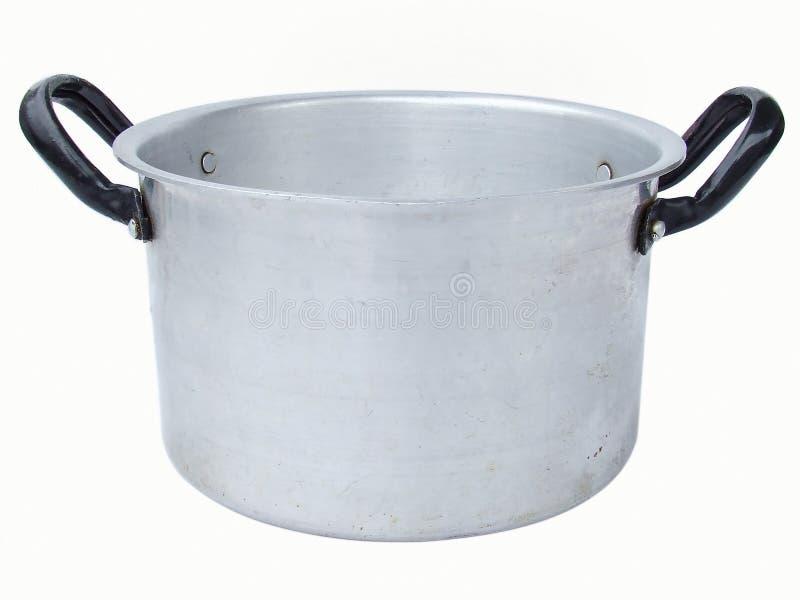 Aluminiowy rondel obraz stock