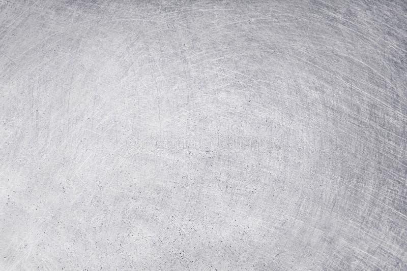 Aluminiowy tekstury tło, narysy na stali nierdzewnej obraz royalty free