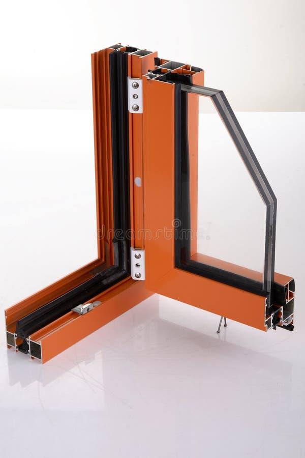 Aluminium alloy window detail stock image