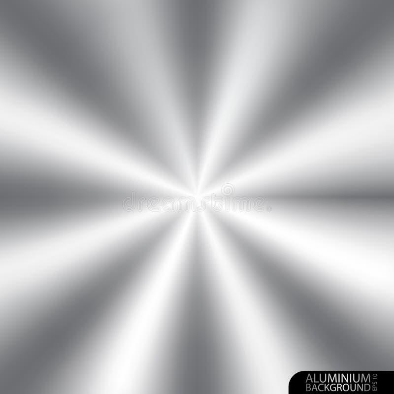 Aluminium bakgrund vektor illustrationer