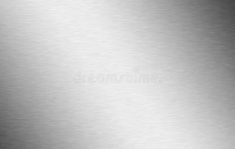 Aluminium balayé détaillé en argent image stock