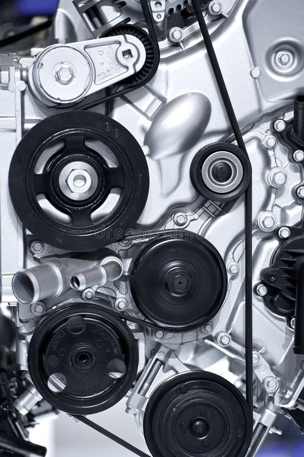 Aluminium bilmotor royaltyfri bild