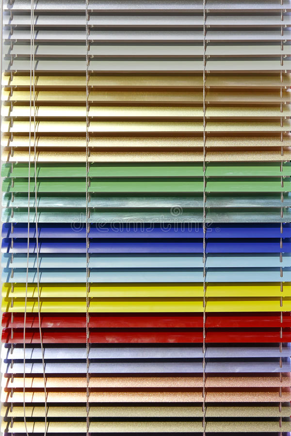Aluminium blinds royalty free stock photos
