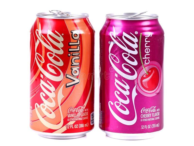 Coca-Cola Vanilla and Coca-Cola Cherry royalty free stock photography