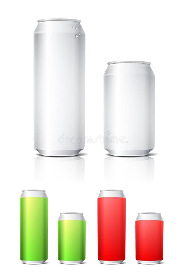 Aluminium Cans Illustration Royalty Free Stock Photography