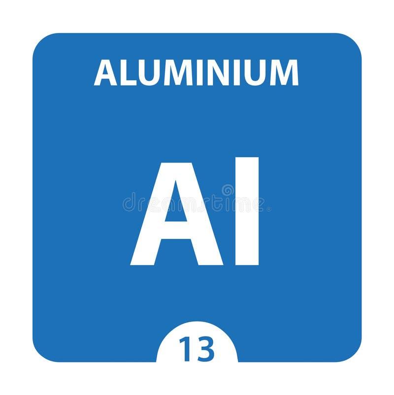 Aluminium Chemical 13 element układu okresowego Tło Molekułu I Komunikacji Aluminium Chemical Al, laboratorium i royalty ilustracja