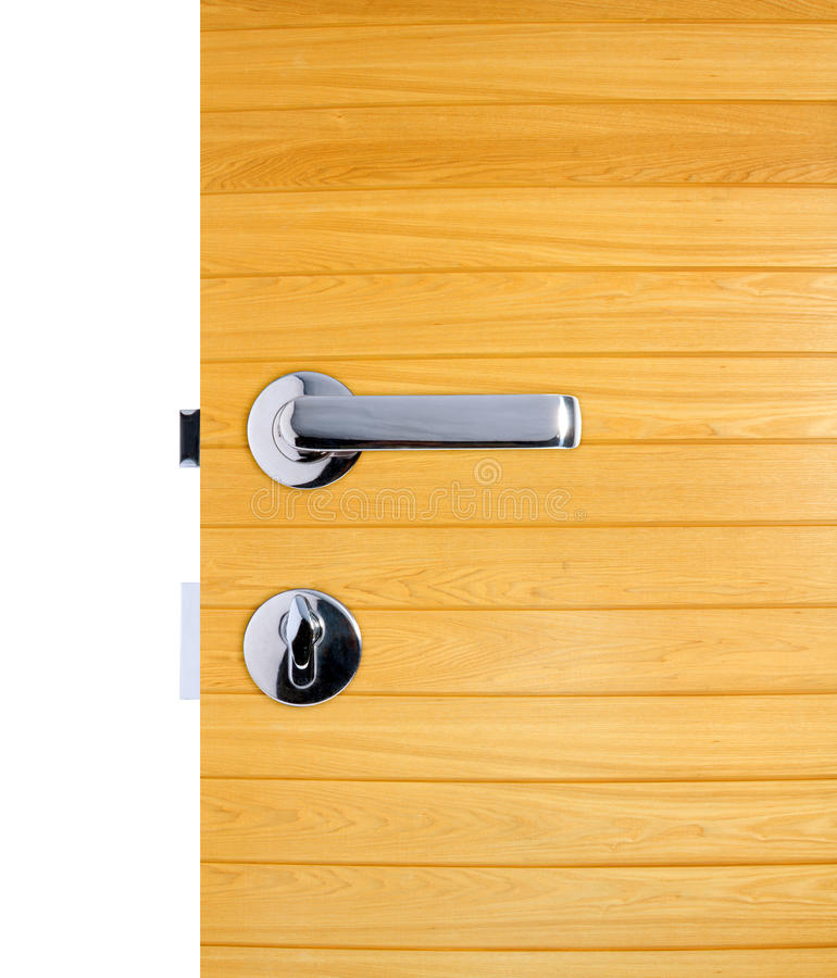 Aluminium dörrhandtag royaltyfri fotografi