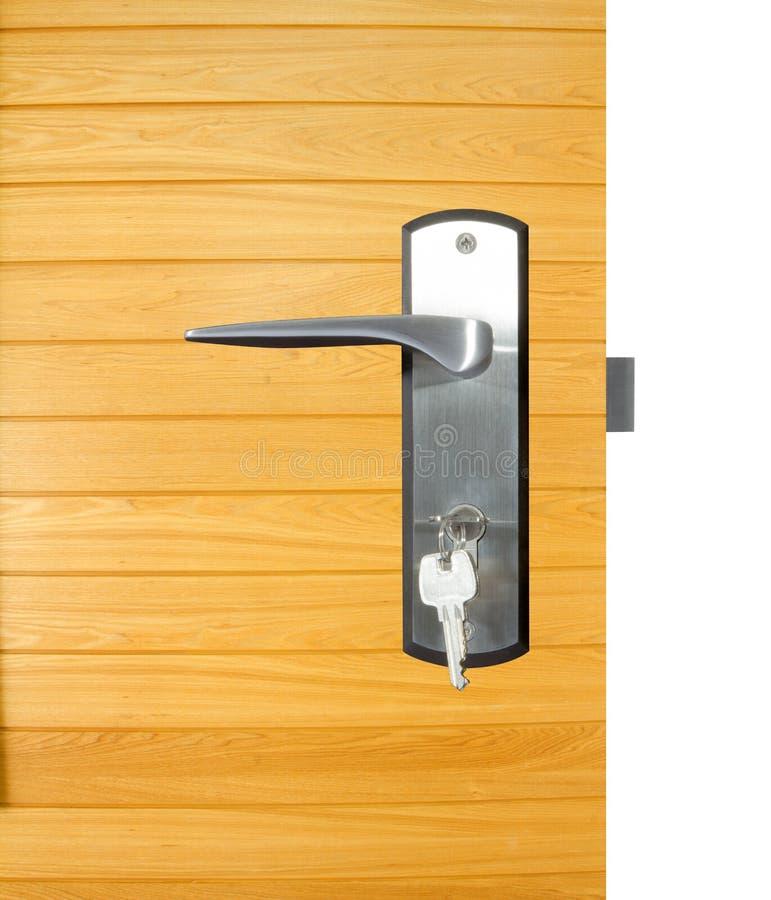 Aluminium dörrhandtag royaltyfria bilder
