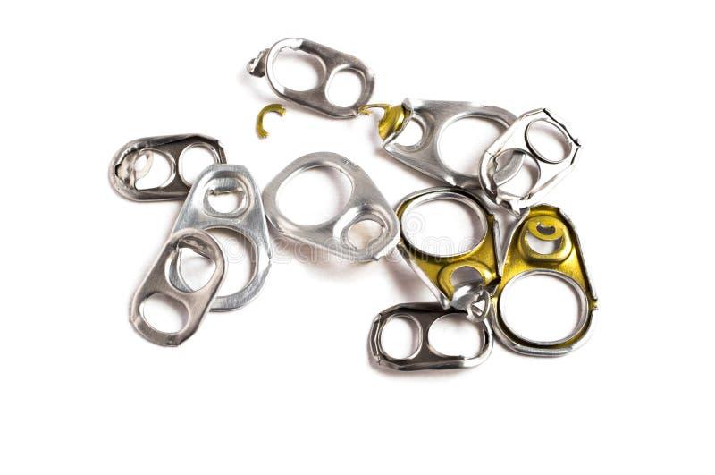 Aluminium de traction d'anneau des boîtes photographie stock