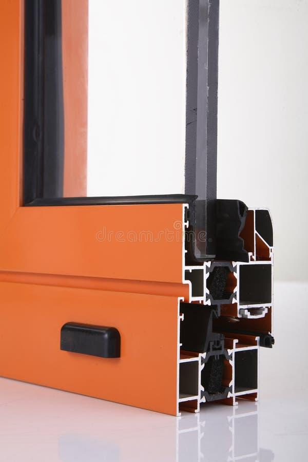 aluminium detaljfönster för legering arkivfoto