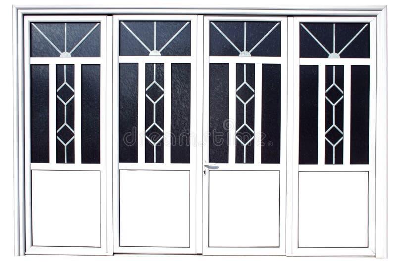 Aluminium Door stock photography