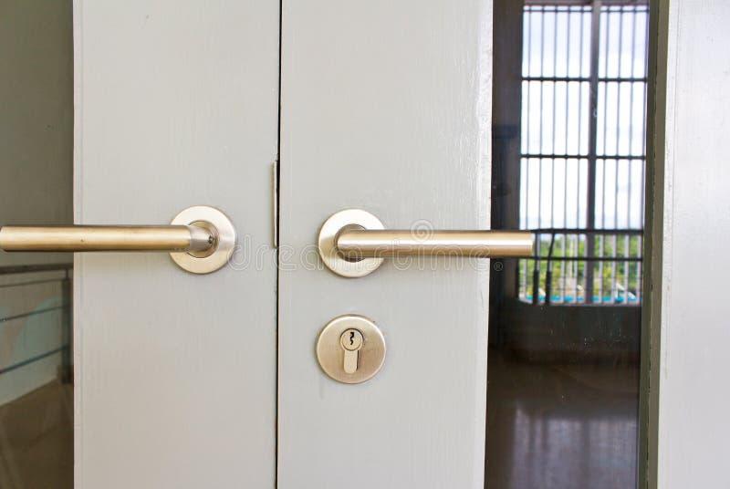 Aluminium door knob stock images