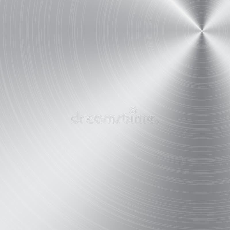 Aluminium eller metalltextur och bakgrund royaltyfri illustrationer