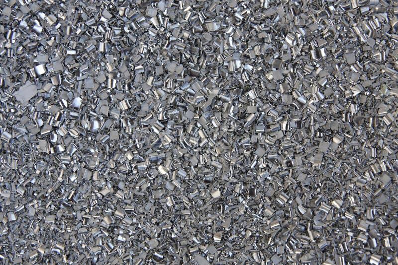 Aluminium filings stock image