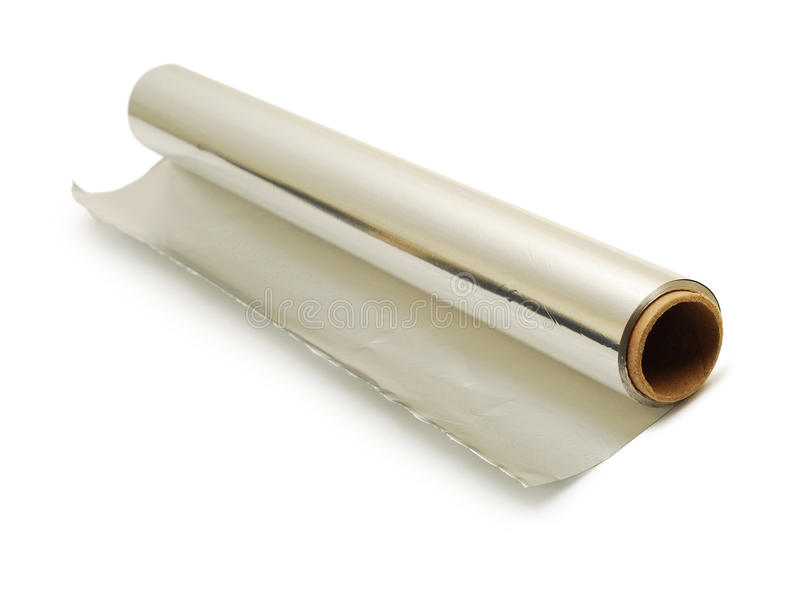Download Aluminium foil roll stock photo. Image of protect, metallic - 10691806