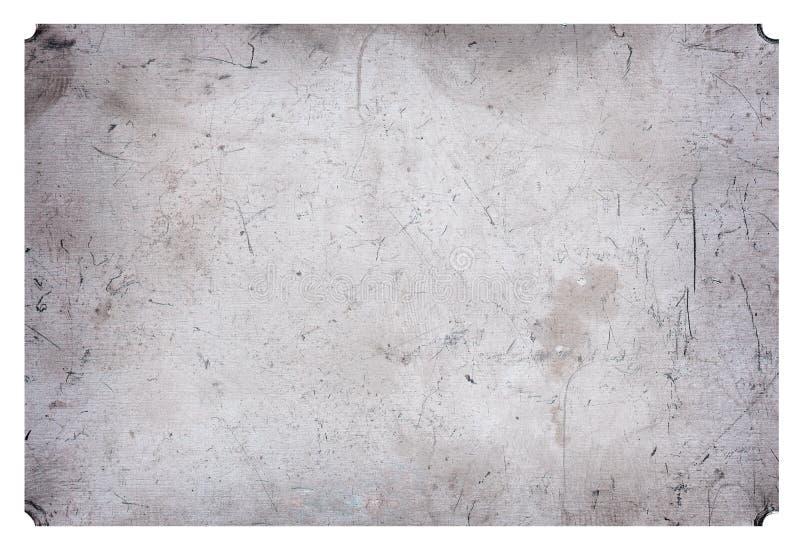 Aluminium grunge metalu talerza porysowany przemysłowy tło fotografia stock