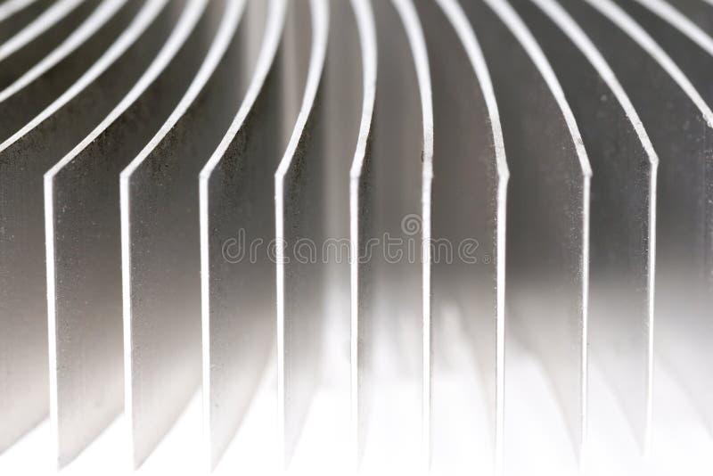Aluminium Heatsink Closeup royalty free stock images