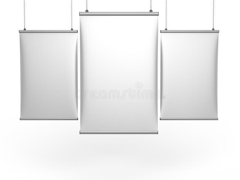 Aluminium kłapnięcia chwyta Podsufitowego sztandaru plakatowy wieszak, Wiszący plakat Ostro protestować Plakatowego wieszaka ilus ilustracji
