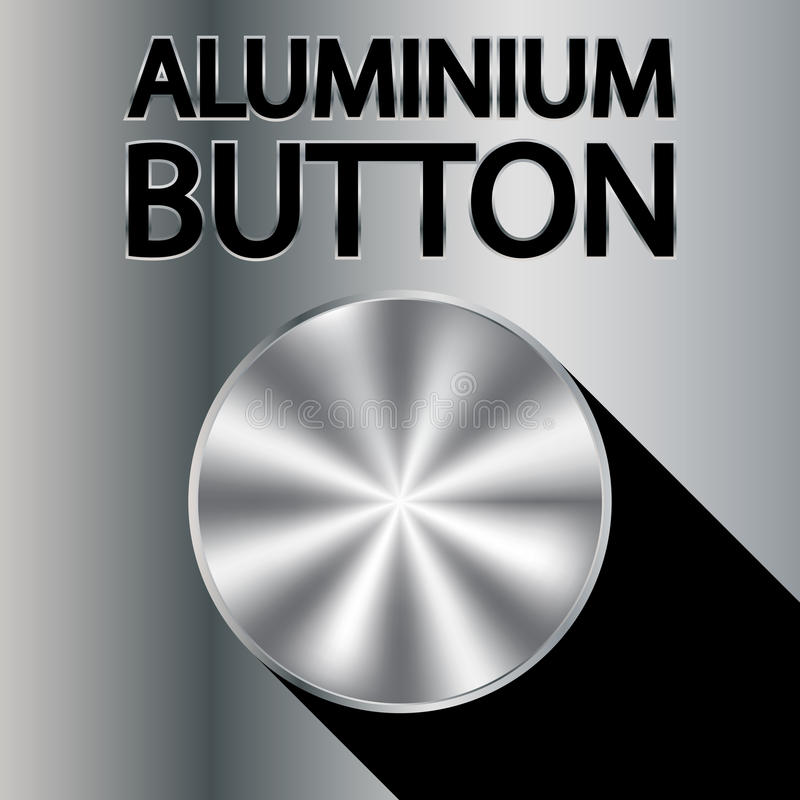 Aluminium knapp royaltyfri illustrationer