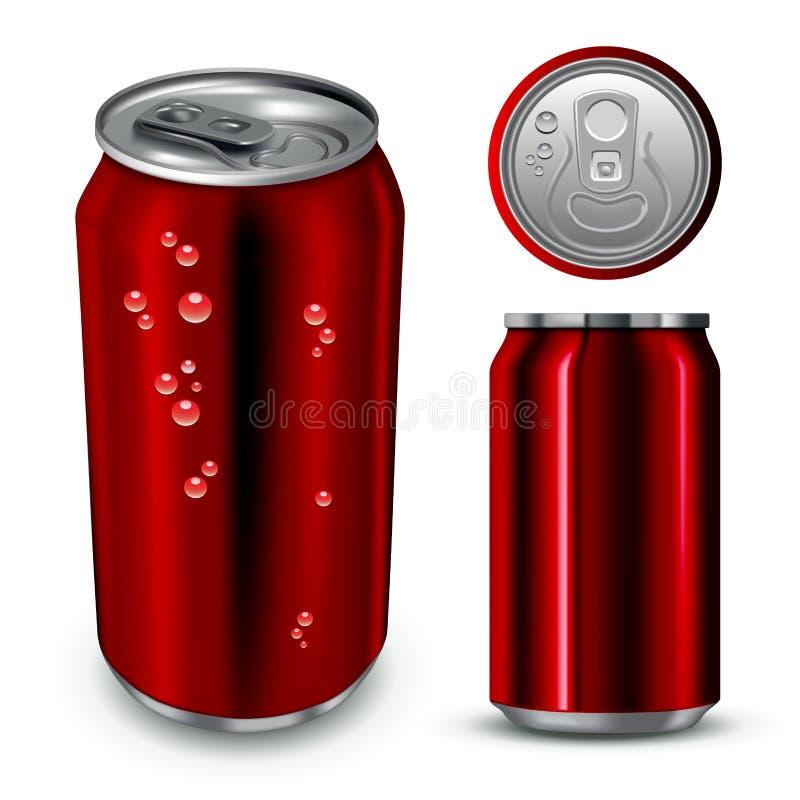 Aluminium może ilustracja wektor