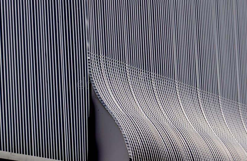 Aluminium modell för arkitekturväggdesign med ljus och skugga arkivbild