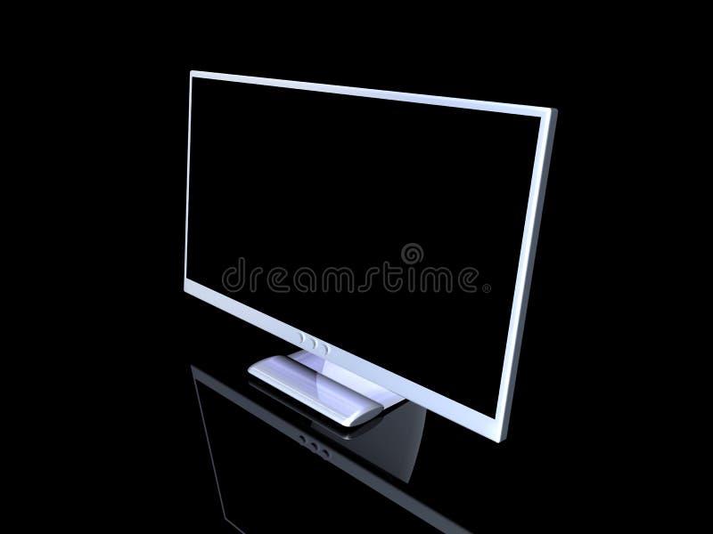 aluminium monitor stock illustration illustration of flatscreen 1113530. Black Bedroom Furniture Sets. Home Design Ideas