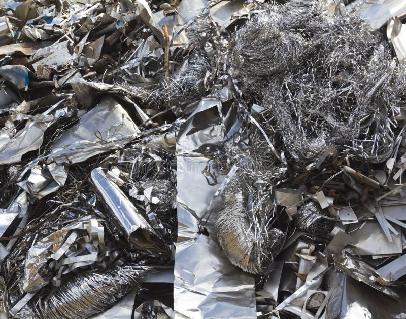 Aluminium odpady zdjęcie royalty free