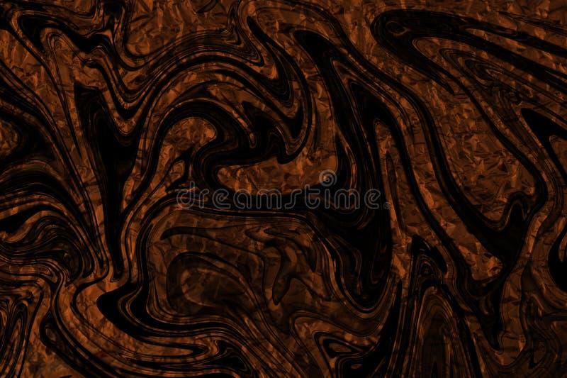Aluminium orange avec un recouvrement des formes noires fantasmagoriques photographie stock