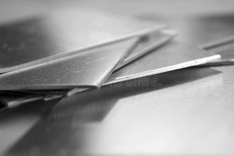 Aluminium plates stock photography