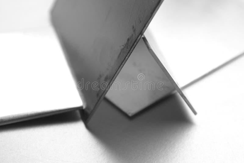 Aluminium plates royalty free stock images
