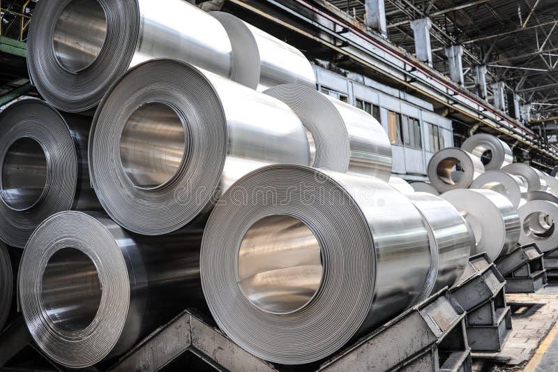 Aluminium rullar royaltyfri fotografi