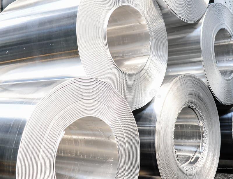 Aluminium rullar arkivbild