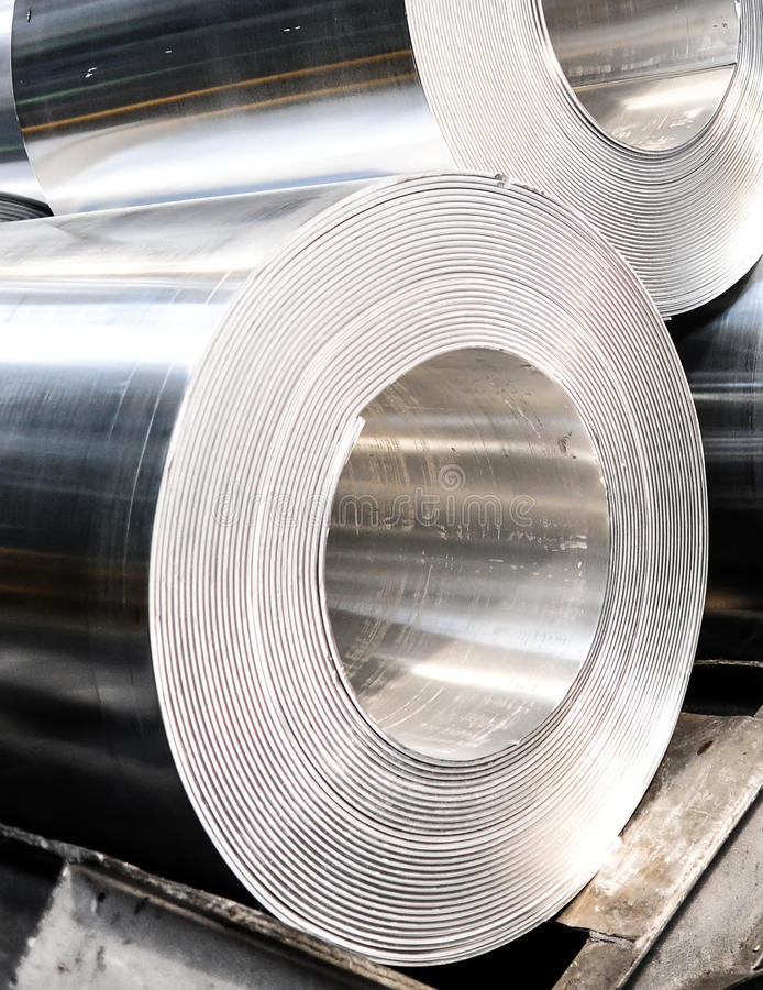 Aluminium rullar arkivbilder