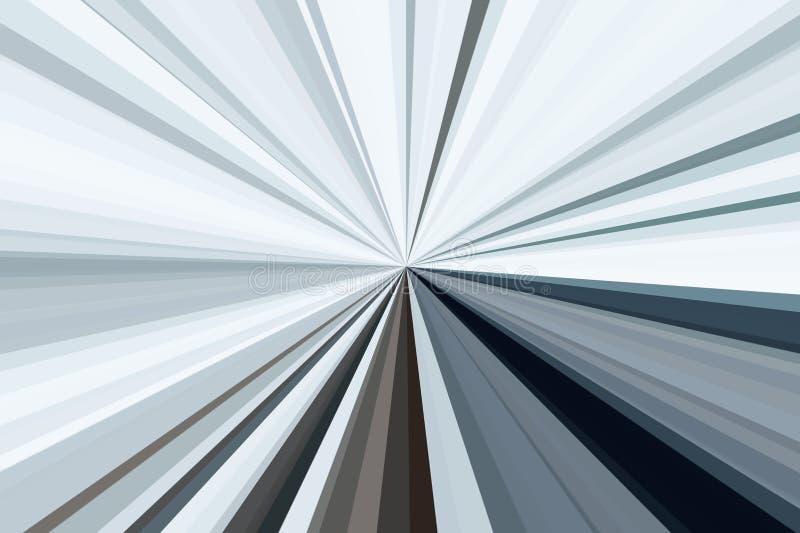 Aluminium, silberne Metallzusammenfassung strahlt Hintergrund aus Streifenstrahlnmuster Moderne Tendenz der stilvollen Illustrati lizenzfreie abbildung