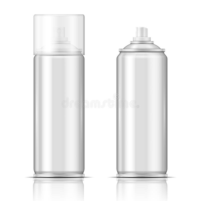 Aluminium spray can. stock illustration