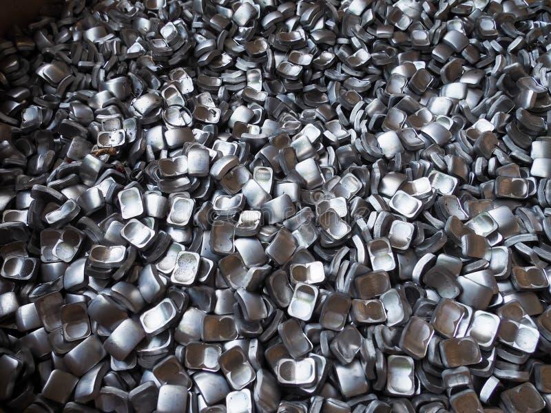 Aluminium stål Recyclingproduct för rest royaltyfria foton