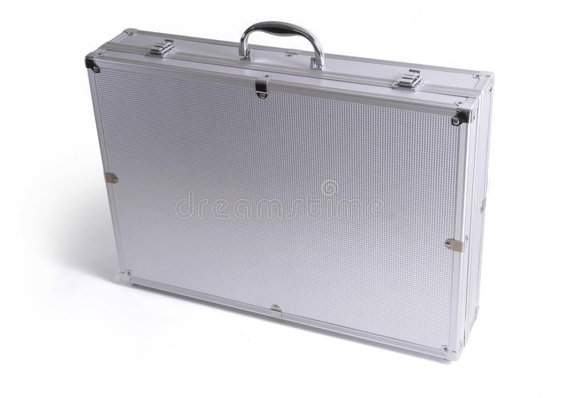 Aluminium Suitcase stock photo