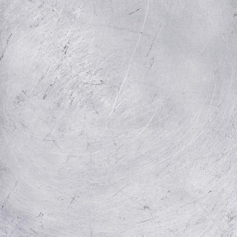 Aluminium texturbakgrund, skrapor på rostfritt stål royaltyfri fotografi