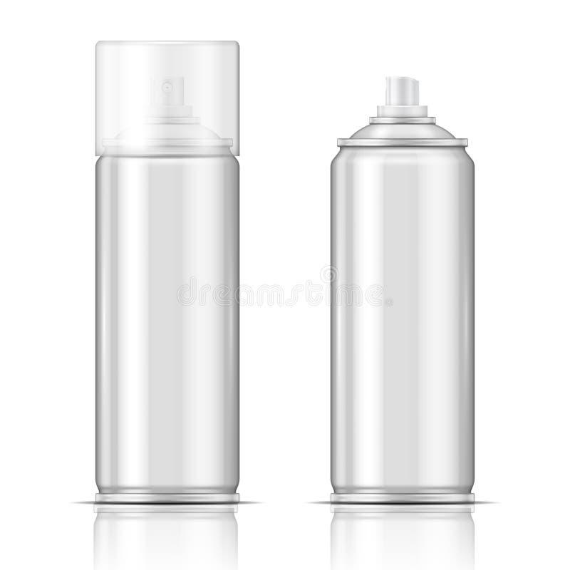 Aluminiumaërosol. stock illustratie