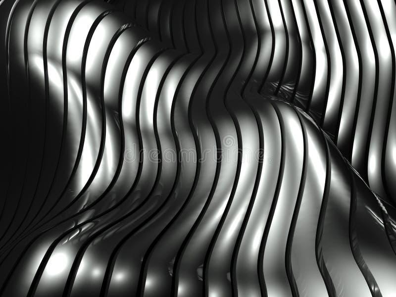 Aluminiumauszugs-Silbermuster des hintergrundes 3d vektor abbildung
