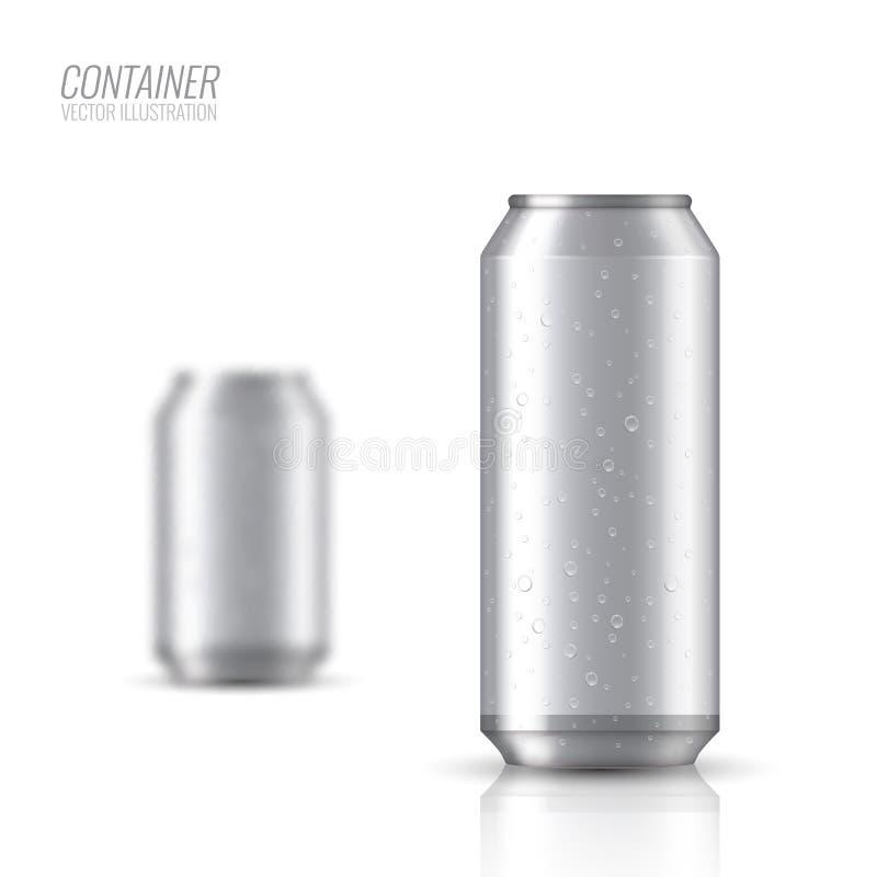 Aluminiumbank Spot op vectorillustratie royalty-vrije illustratie