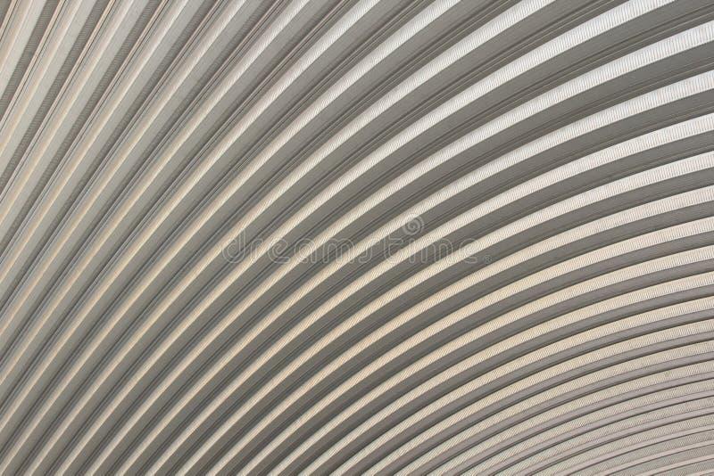 Aluminiumdachmuster, abstrakter strukturierter Hintergrund lizenzfreies stockfoto