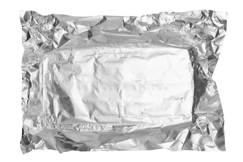 Aluminiumfolie van chocolade stock foto's