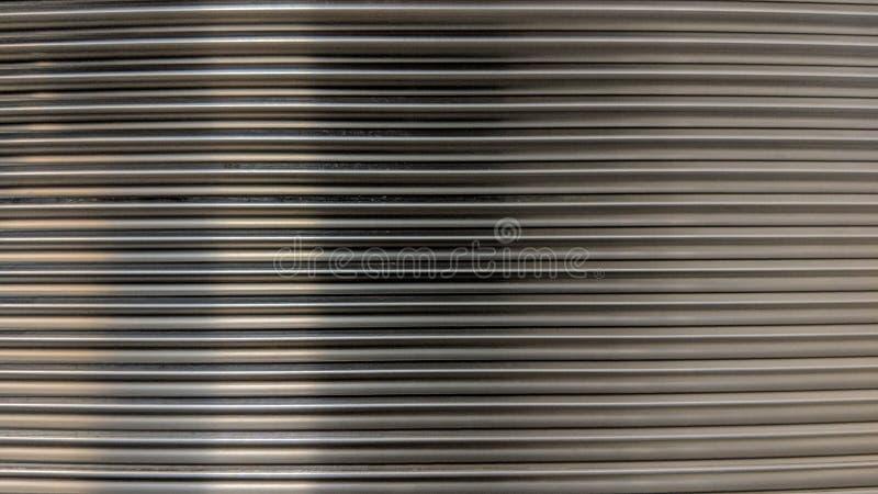 Aluminiumplatte mit quadratischer Nut stock abbildung
