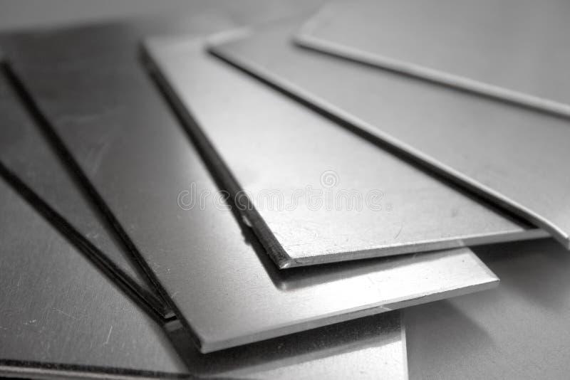 Aluminiumplatten stockfotos