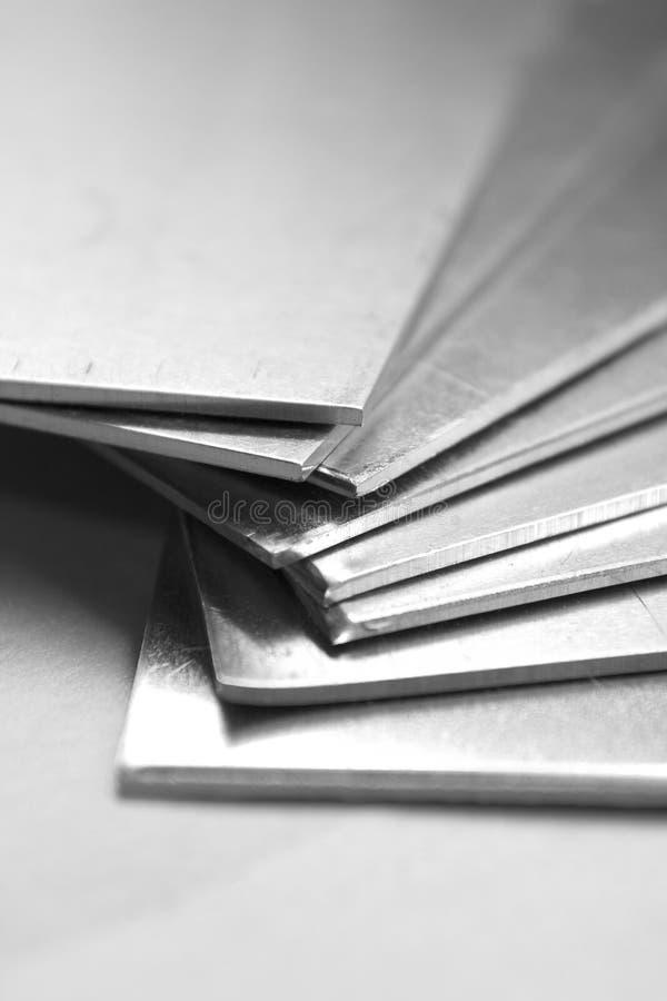 Aluminiumplatten lizenzfreies stockfoto